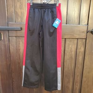 NWT Starter Boys Black Red Track Pants Tricot